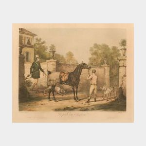 After Carle Vernet (French, 1758-1836)  Lot of Two Hunting Prints:  Depart du Chasseur