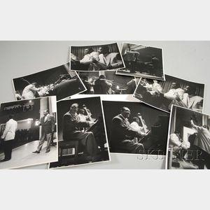 Set of Nine Steve Crouch Concert Photographs of Duke Ellington and Orchestra