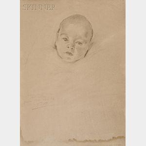 Cecilia Beaux  (American, 1855-1942)      Portrait of Joseph B. Thomas IV as an Infant