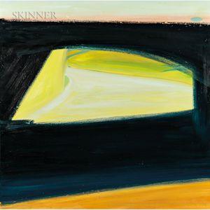 Richard Sheehan (American, 1953-2006)      Black Paint as Bridge - Route 146, North Smithfield, Rhode Island