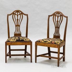 Pair of Federal Mahogany Shield-back Chairs