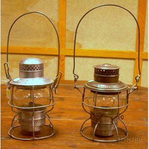 Two Tin Railroad Lanterns