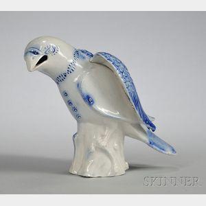 Staffordshire Saltglazed Stoneware Model of a Hawk
