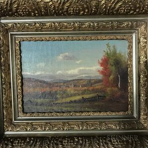 Delbert Dana Coombs (American, 1850-1938)       Autumn Landscape.