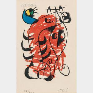 Joan Miró (Spanish, 1893-1983)      La boîte alerte