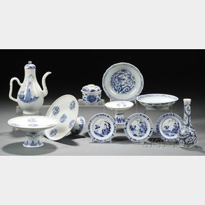 Eleven Blue and White Items