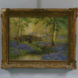 Alfred Fontville De Breanski, Jr. (British, 1877-1957)      Spring Time, The Brook...
