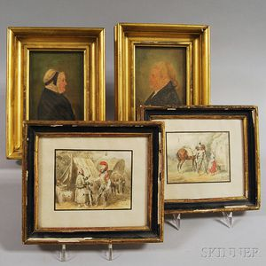 Four Small Framed Works