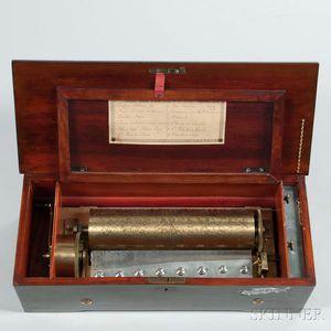 Lever-wind 3-inch Diameter Cylinder Musical Box