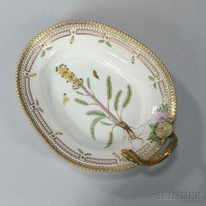 "Six Royal Copenhagen ""Flora Danica"" Porcelain Trays"