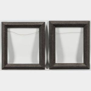 Two Tramp Art Frames