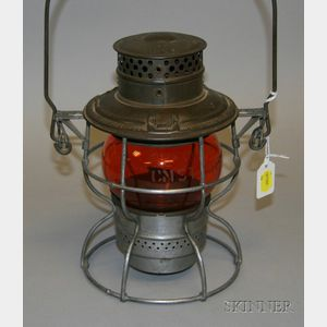 Adams & Westlake Co. Tin Railroad Lantern