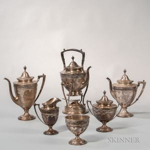 Six-piece Frank Whiting Sterling Silver Tea and Coffee Service