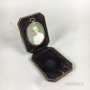 Cased Portrait Miniature by Margaret Foote Hawley