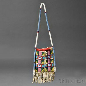 Blackfoot Beaded Hide Mirror Bag