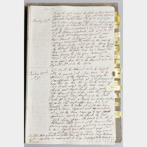 Manuscript Transcripts of Admiral Nelson's Fleet Logbooks from the Battle of Trafalgar, October 21, 1805