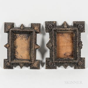 Pair of Small Tramp Art Frames