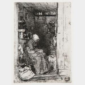 James Abbott McNeill Whistler (American, 1834-1903)      La vieille aux loques