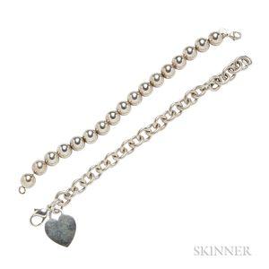 Two Sterling Silver Bracelets, Tiffany & Co.