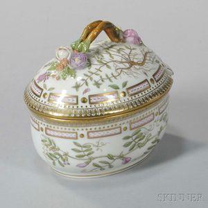 "Four Royal Copenhagen ""Flora Danica"" Porcelain Covered Dishes"