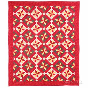 "Mennonite ""Eight Point Star"" Quilt"