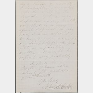 Whittier, John Greenleaf (1807-1892) Two Autograph Letters Signed.