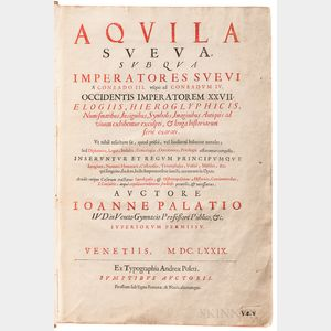 Palazzi, Giovanni (1646-1703) Aquila Sueva, sub qua Imperatores Suevi a Conrado III. usque ad Conradum IV.