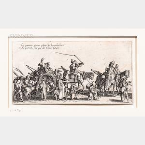 Jacques Callot (French, 1592-1635)      Les Bohémiens  /A Suite of Four Works