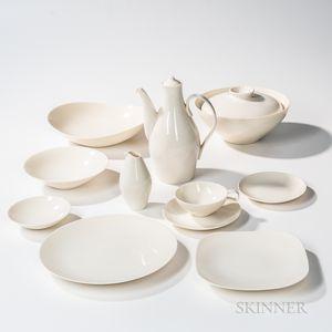 Eva Zeisel (Hungarian/American, 1906-2011) for Castleton China Seventy-piece Museum Dinner Service