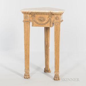 Marble-top Corner Table