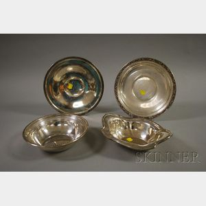 Four Sterling Serving Items