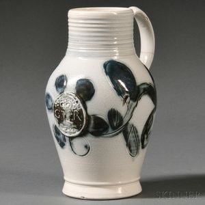Staffordshire Salt-glazed Stoneware Jug