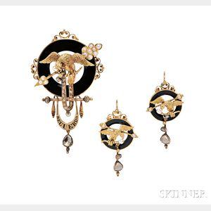 Antique Gold, Onyx, and Diamond Suite