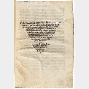 Aristotle [Analytica Posteriora, Posterior Analytics  ] ed. Walter Burley (c. 1275-1344/5); [and] Robert Grosseteste (c. 1175-1253)