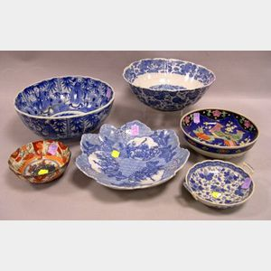 Six Assorted Asian Decorated Porcelain Bowls.