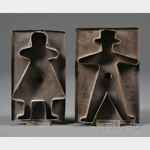 Tinware Man and Woman Cookie Cutters
