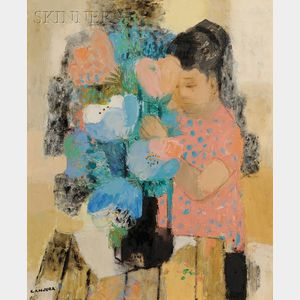 Noe Canjura  (French, 1925-1973)      La composition du bouquet