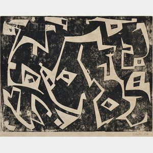 Sacha Kolin (American, 1911-1981)      Lots of Two Compositions:  Untitled