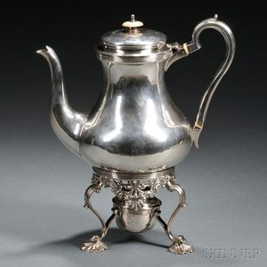 George IV Sterling Silver Teapot and Kettle Stand