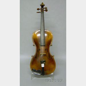 Modern German Violin, F.A. Glass