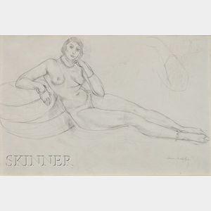 Henri Matisse  (French, 1869-1954)      Femme nue allongée