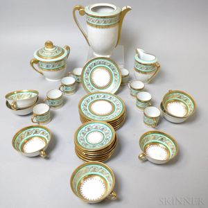 Thirty-three Pieces of Limoges Porcelain Teaware