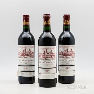 Chateau Cos dEstournel 1989, 3 bottles