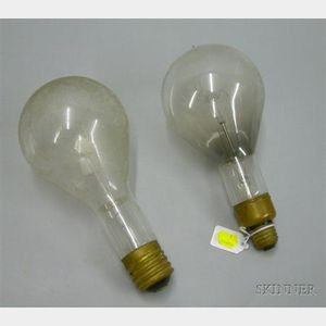 Two Large Early Light Bulbs.