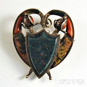 Victorian Scottish Agate Pendant/Brooch