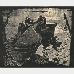 Gan Kolski (Polish/American, 1899-1932)      Fishermen