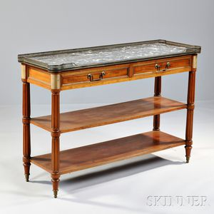 Neoclassical-style Gilt-bronze and Marble-top Buffet