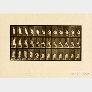 Eadweard Muybridge (British, 1830-1904)      Plate 423 (Woman Putting on Boots), from Animal Locomotion