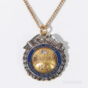 Red Sox Golden Anniversary Diamond and Enamel Pendant