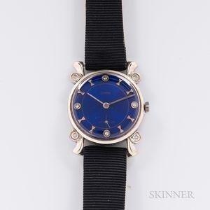 Cyma 14kt White Gold and Diamond Wristwatch